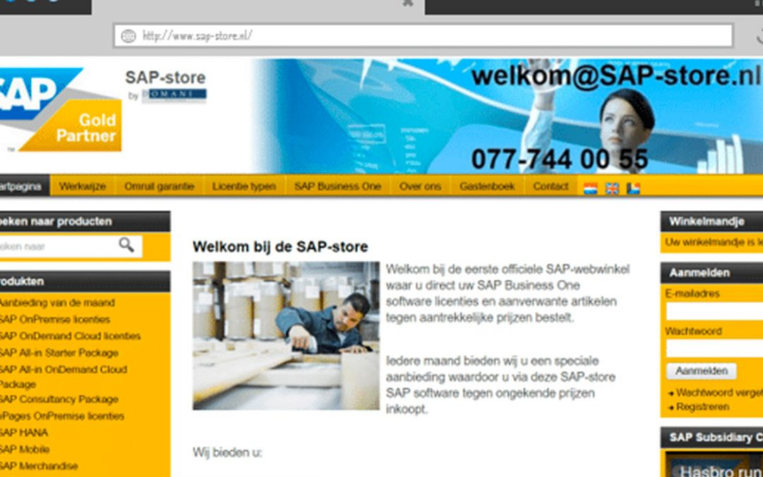 Eerste SAP store door Domani Business Solutions